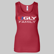 Ugly Family - Juniors' Fit Baby Rib Tank Top