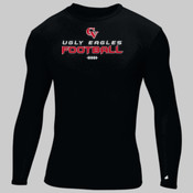 'CV Football' - Adult Compression Long-Sleeve Tee